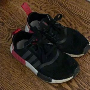 Womens adidas nmd black red and pink size 7